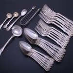 Service of Victorian flatware. Melt value in 2005: £500. Today: £1500.