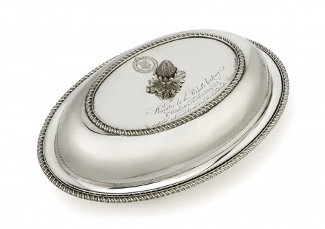 Silver dish presented to George Dance R.A. by fellow members of the Royal Academy of Arts