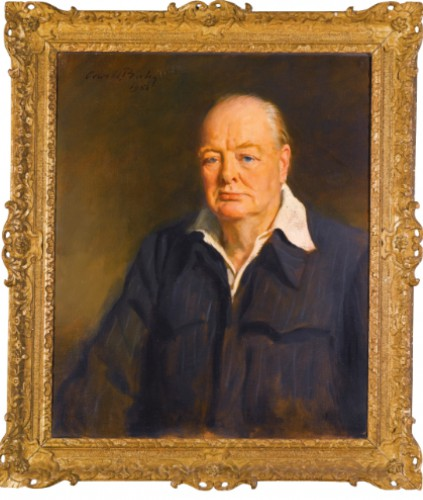 Portrait of Sir Winston Churchill by Sir Oswald Birley, 1950. Sotheby's.