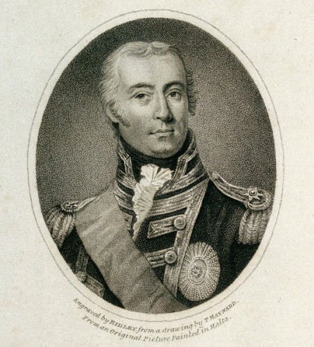 Sir Richard Bickerton, Bt. from an original painting by an Italian artist in Malta, published 1 June 1805.