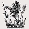 Van Koughnet family crest, coat of arms