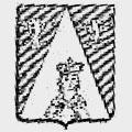 Du Pffefel family crest, coat of arms