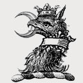Unthank family crest, coat of arms
