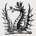 Babington family crest, coat of arms
