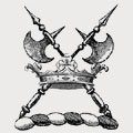 Inge family crest, coat of arms