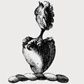 Aberton family crest, coat of arms