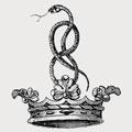 Lagenham family crest, coat of arms