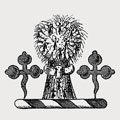 Walthall family crest, coat of arms