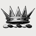 La Cloche family crest, coat of arms