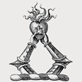 Rasdall family crest, coat of arms