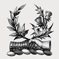 Dalziel family crest, coat of arms