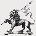 Audin family crest, coat of arms