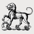 Aubert family crest, coat of arms