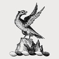 Aubin family crest, coat of arms