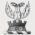 Quantock family crest, coat of arms