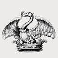 Yarde family crest, coat of arms