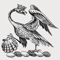 Usher family crest, coat of arms