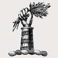 Rasynge family crest, coat of arms