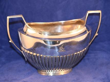 A 19thC Sheffield plate sugar bowl