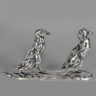 SILVER MARCHING PENGUINS