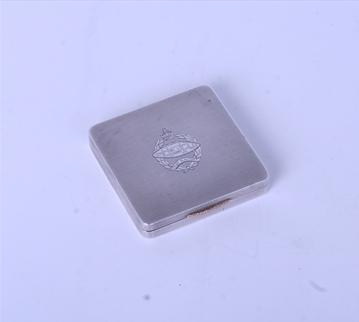 A sterling silver powder compact