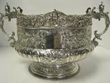 Victorian, Sterling Silver Hand Chased Bowl