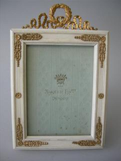 French Dore Bronze Mounted Picture Frame