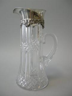 Gorham Sterling Mounted Cut Glass Pitcher