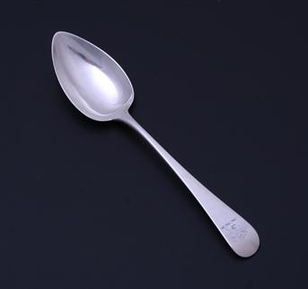 A George III sterling silver dessert spoon