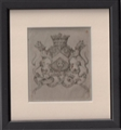 A framed 18th Century armorial print