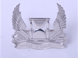 Victorian sterling silver armorial place card or menu holder