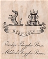 An early 20th century crest bookplate