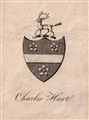 An 18th century armorial bookplate