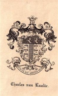 A 19th century framed armorial bookplate
