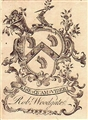 An 18th century framed armorial bookplate