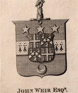 An 18th century framed armorial bookplate