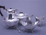 Five piece Victorian sterling silver tea and coffee service