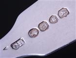 Set of four Victorian fiddle pattern sterling silver forks