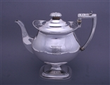 A fine Regency sterling silver coffee pot