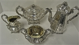 Antique English , Early Victorian, Sterling Tea & Coffee Set. 1840.