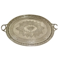 Magnificent Antique English Sterling Silver Tray