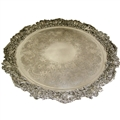 Magnificent. Large & Very Decorative, Antique English Sterling Silver Tray