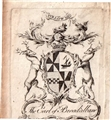 An early 18th century framed armorial bookplate