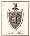 A 19th century framed armorial bookplate
