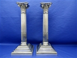 Pair of Stunning Antique Sterling Silver Candlesticks