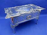 Antique English Sterling Silver Jewellery Casket