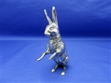 Antique English Sterling Silver Hare Pepper