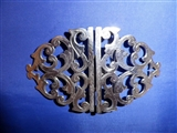1898 Antique English Sterling Silver Nurse Buckle