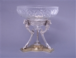 Fine Victorian silver and glass figural centrepiece
