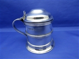 1908 Antique English Sterling Silver Lidded Tankard Mustard Pot